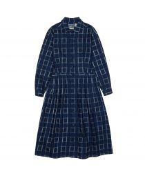 Платье Flannel Classical Check Indigo
