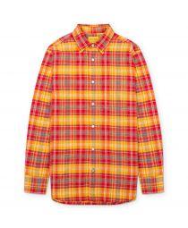 Рубашка Straight Collar Red/Yellow