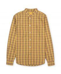 Рубашка Band Collar Mustard/Green