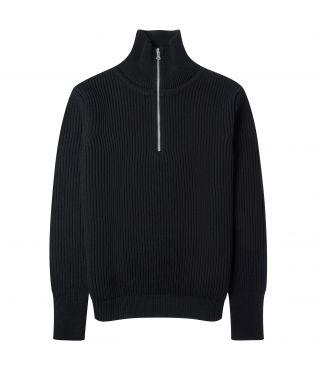 Свитер Navy Half Zip Black