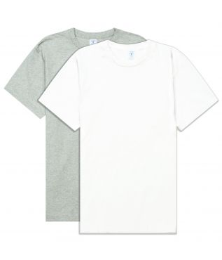 Футболка 2-Pack White/Heather Grey