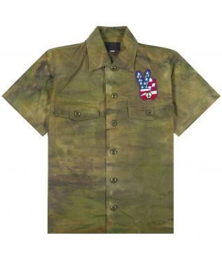 Рубашка Vietnam Tie Die Olive