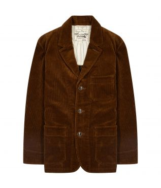 Пиджак 3 Button Corduroy Brown