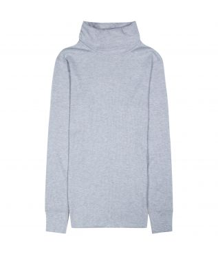 Лонгслив Basic Turtleneck Waffle Heather Grey