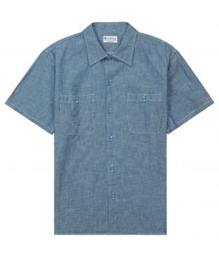 Рубашка Short Chambray Blue