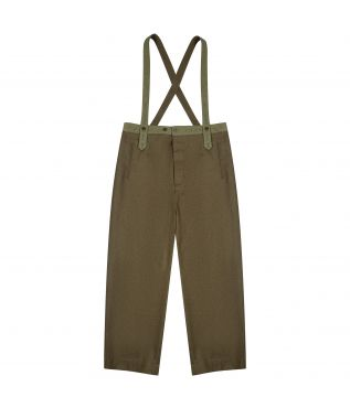 Брюки Motorcycle Suspenders Military Khaki