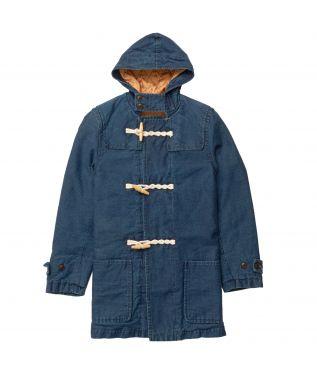 Пальто Indigo Backsatin Duffle Blue