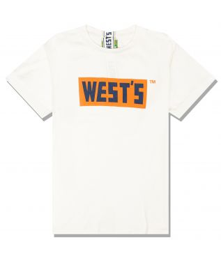 Футболка Logo White/Orange/Navy