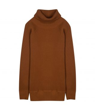 Толстовка Super Heavy Waffle Turtleneck Brown