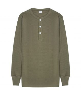 Лонгслив Thermal Henley Green