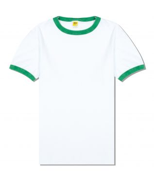 Футболка Rolled Ringer White/Green