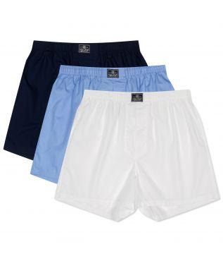 Трусы Classic Boxers 3-Pack White/Navy/Blue