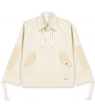 Куртка Suede Patch Pull Over White Grey