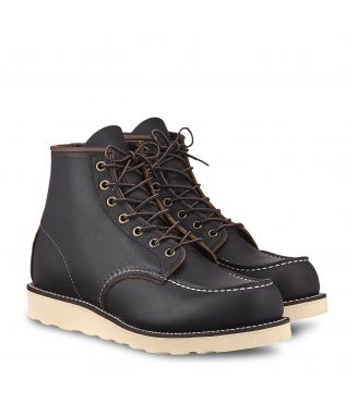"""Ботинки 8849 6"""" Classic Moc Toe Black Prairie"""