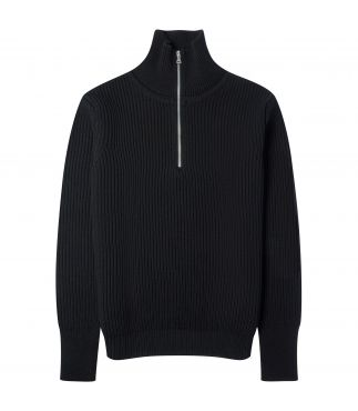 Свитер Navy Half Zip Black