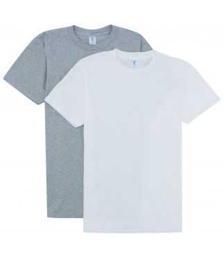 Футболка 2-Pack Pocket White/Heather Grey