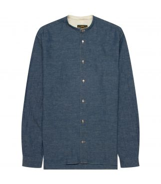 Рубашка Band Collar Blue