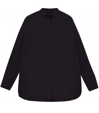 Рубашка One-Piece Collar Gathered Charcoal