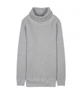 Толстовка Super Heavy Waffle Turtleneck Heather Grey
