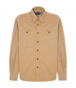 Рубашка Vintage Twill Chore British Khaki
