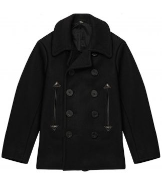 Пальто William Gibson x Buzz Rickson's Wool Pea Coat Black