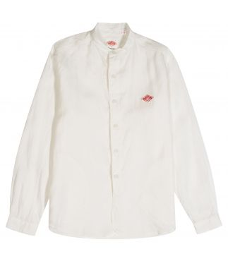 Рубашка Band Collar W's Linen Shirt White