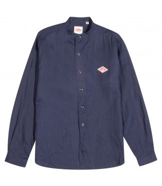 Рубашка Band Collar W's Linen Shirt Navy