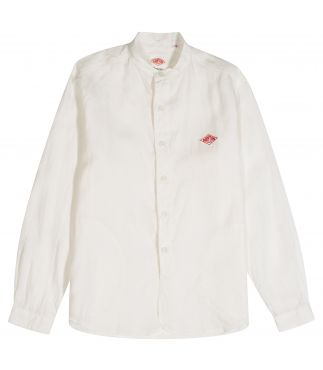 Рубашка Band Collar Linen Shirt White