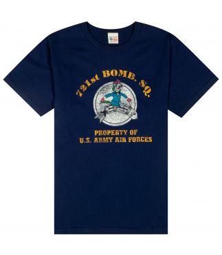 Футболка 721st Bomb SQ. Navy