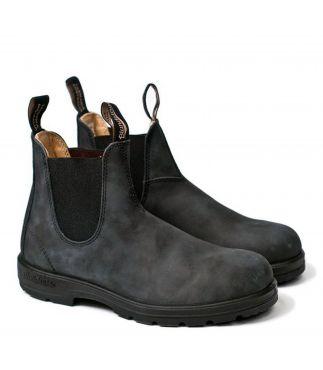 Ботинки 587 Rustic Black Leather