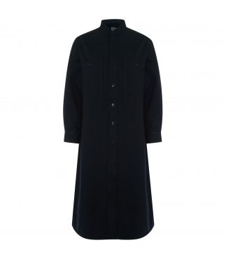 Рубашка Stand Collar Long Navy