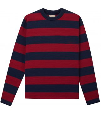 Джемпер Striped Crew Dark Navy/Cardinal
