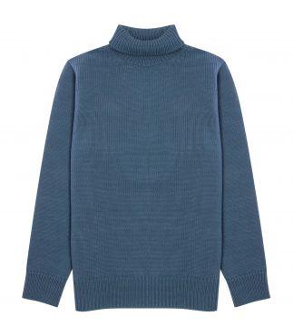 Свитер Turtleneck Felted Wool Gray Blue