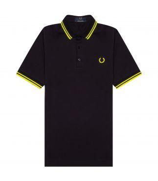Футболка Classic Polo Navy/Bright Yellow
