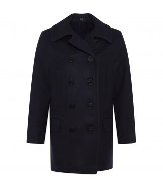 Пальто Long Wool Pea Coat Navy