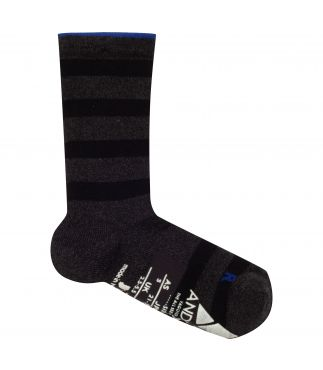 Носки Support Pile Crew Stripe Charcoal Black