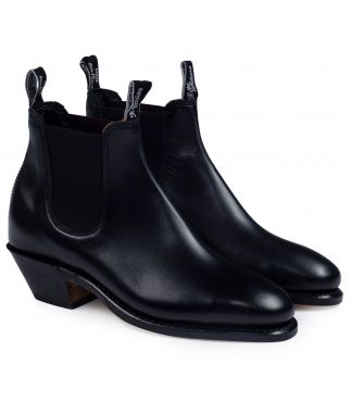 Ботинки Adelaide Cuban Heel Leather Black