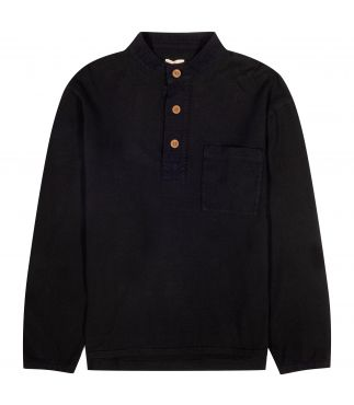 Лонгслив Washi x Cotton Jersey Smock Black