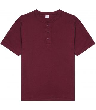 Футболка Heavy Henley Wine