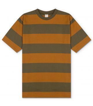 Футболка 3inch Mustard/Green Stripe