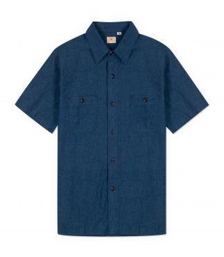 Рубашка Short Sleeve Blue Chambray